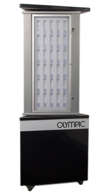 Outdoor vitrine, Olympic horloges
